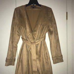 NWOT via spiga long suede jacket